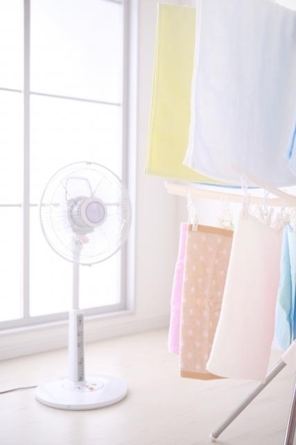 部屋干しをするときの扇風機の使い方