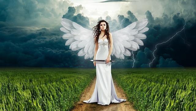 目の前に立つ天使