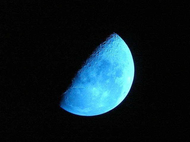 7日頃の月の名前「上弦の月」