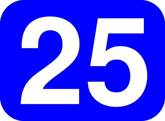 25のエンジェルナンバーは2と5の意味をあわせ持つ
