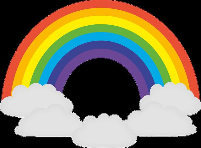虹の配色の順番