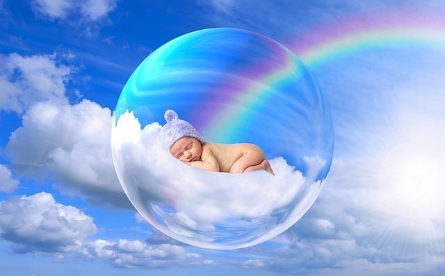 赤ちゃんと虹