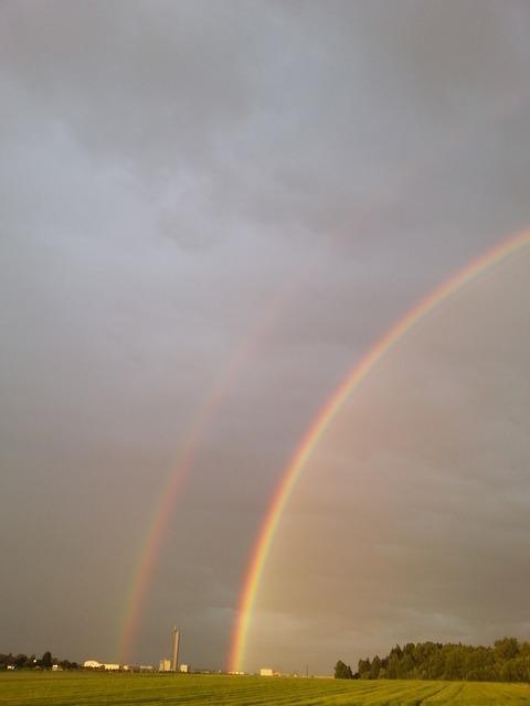 二重虹はラッキーなサイン