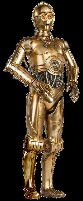C-3POの全身が金色で片脚だけが銀色?