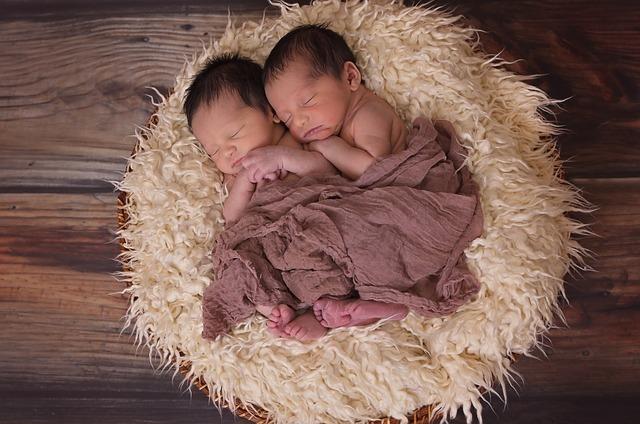 双子の赤ん坊