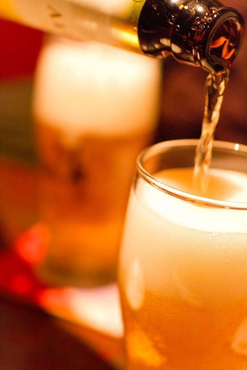 「たちまち、生ビールで。」