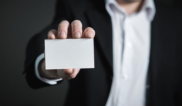 白紙の名刺