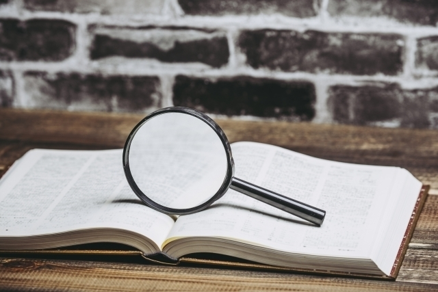 辞書で意味を調べる