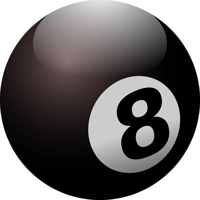 ビリヤード8番ボール
