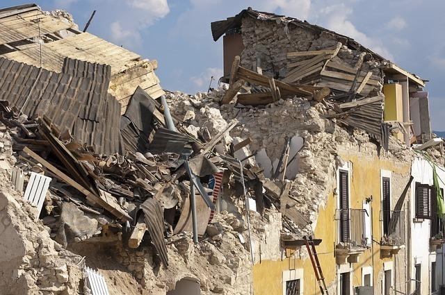 被災した建物
