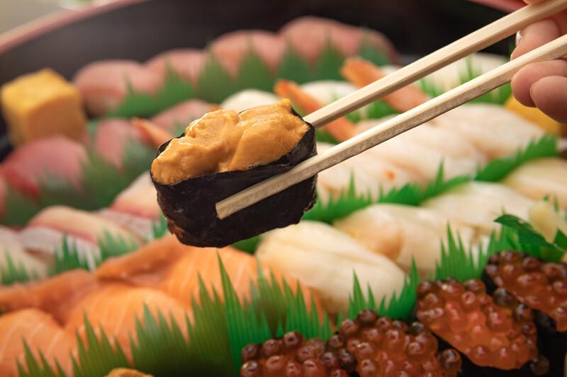 ネタが「ウニ」の寿司の夢