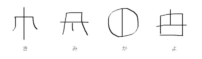 ヲシテ文字で書いた「君が代」