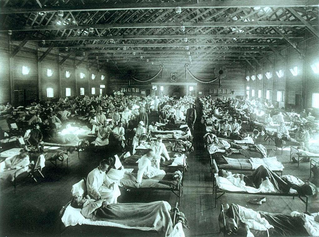 スペイン風邪の流行