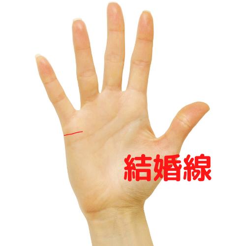 結婚線の手相の図