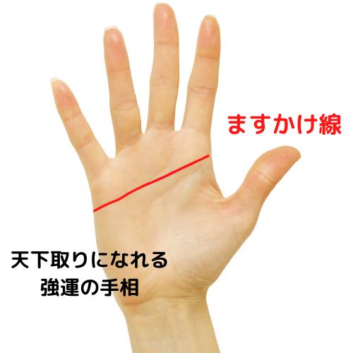 ますかけ線の手相の画像