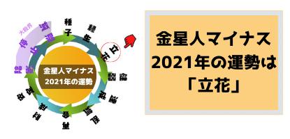 金星人マイナスの2021年の運勢