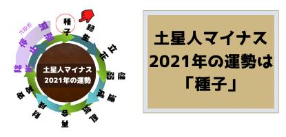 土星人マイナスの2021年の運勢