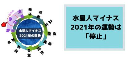 水星人マイナスの2021年の運勢
