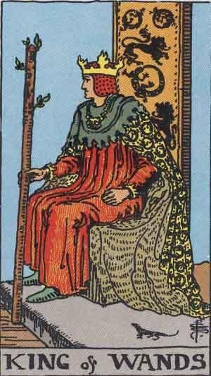 ワンドのキングのタロットカード