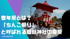 豊年祭とは?「ちんこ祭り」と呼ばれる田縣神社の奇祭について解説します!