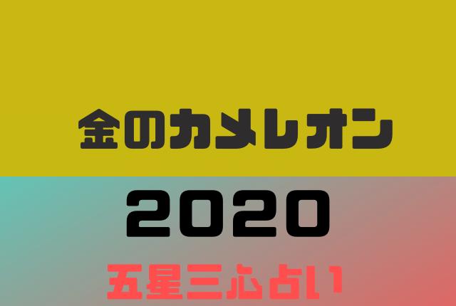 【五星三心】金のカメレオンの2020年の運勢