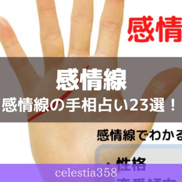 感情線とは?手の左右で違う意味を男女別に紹介|感情線の手相占い23選!