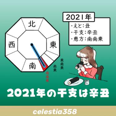 2021年の干支は辛丑(かのとうし)、恵方についても解説します