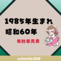 1985年(昭和60年)生まれは何歳?【年齢早見表】
