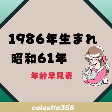 1986年(昭和61年)生まれは何歳?【年齢早見表】