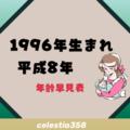 1996年(平成8年)生まれは何歳?【年齢早見表】