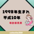 1998年(平成10年)生まれは何歳?【年齢早見表】