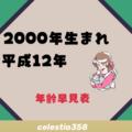 2000年(平成12年)生まれは何歳?【年齢早見表】