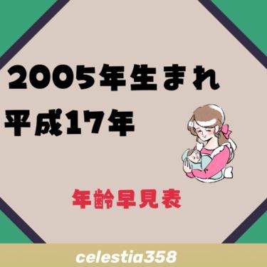2005年(平成17年)生まれは何歳?【年齢早見表】