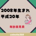 2008年(平成20年)生まれは何歳?【年齢早見表】