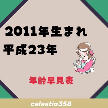 2011年(平成23年)生まれは何歳?【年齢早見表】