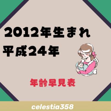 2012年(平成24年)生まれは何歳?【年齢早見表】