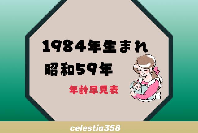 西暦 昭和 59 年