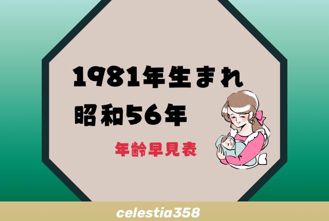 西暦 年 昭和 56