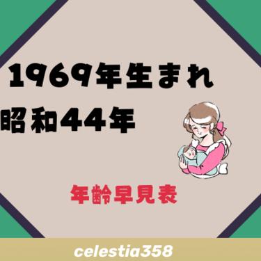 1969年(昭和44年)生まれは何歳?【年齢早見表】 | セレスティア358