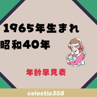 1965年(昭和40年)生まれは何歳?【年齢早見表】