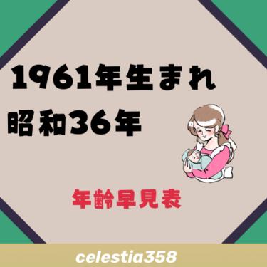 1961年(昭和36年)生まれは何歳?【年齢早見表】