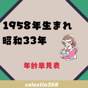 1958年(昭和33年)生まれは何歳?【年齢早見表】 | セレスティア358