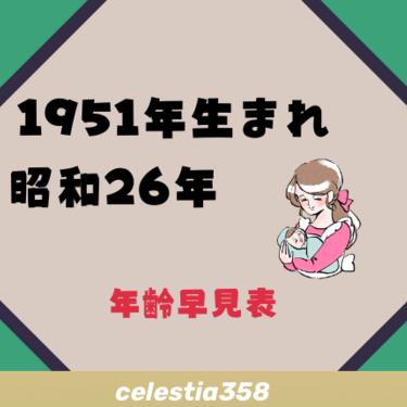 1951年(昭和26年)生まれは何歳?【年齢早見表】