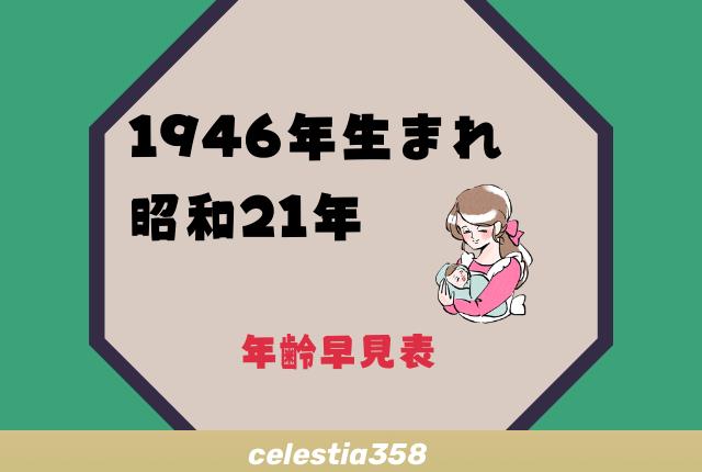 昭和 21 年 何 歳