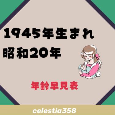 1945年(昭和20年)生まれは何歳?【年齢早見表】